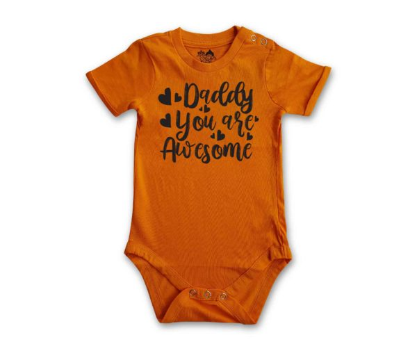 Daddy You Are Awesome Romper by HALUMKIDS